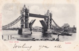 AR93 Tower Bridge, London - Early Undivided Back - River Thames
