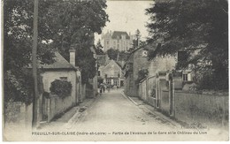 37 - Preuilly Sur Claise - Partie De L'avenue De La Gare Et Le Chateau Du Lion - Altri Comuni