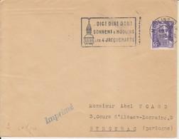 "1954 France 03 Allier Moulins Flamme ""Dig Din Don - Sonnet A Moulins - Les 4 Jacquemarts"" Clock Tower - Postmark Collection (Covers)"