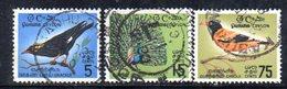 T391 - CEYLON 1966 , Yvert N.  358/360 Serie Usata  Bird - Sri Lanka (Ceylon) (1948-...)