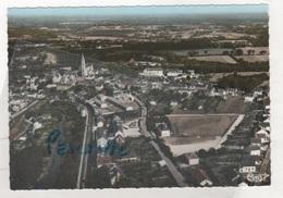 44 LOIRE ATLANTIQUE - CP COLORISEE PONTCHATEAU - VUE GENERALE AERIENNE - CIM N° 28-61 A - ECRITE EN 1966 - Pontchâteau