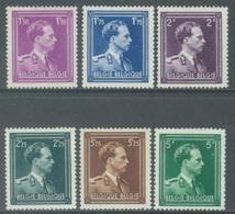 BELGIQUE - 1943 - MLH/* - LEOPOLD III COL OUVERT - COB 641-646 -  Lot 17947 - Belgien