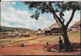 VILLAGGIO AFRICANO - VIAGGIATA 1971 FRANCOBOLLO ASPORTATO - Africa