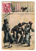 "Caricature Antisémite / "" Salutations De La Source De Karlsbad "" / "" Gruss Vom Karlsbader Sprudel "" / 1910 - Jewish"