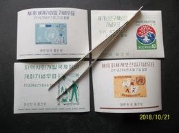 Korea, South, R.O.K.: 4 S/Ss In MNH, OG. (#KJ2) - Korea, South
