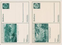 DR 3 Reich 2 X Ganzsache P 221+232 Bildpostkarte Bad Salzschlirf + Bad Flinsberg 1933-34 - Deutschland