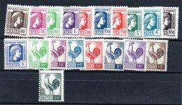 Francs / Série N 630 à 648 / NEUFS ** - France