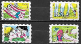 """France 2016 Oblitéré Autoadhésif   N°  1289 - 1294 - 1297 - 1299  """"  Sous Le Soleil  """" - Adhesive Stamps"""