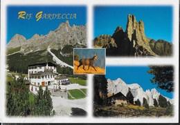 DOLOMITI - RIFUGIO GARDECCIA - GRUPPO DEL CATINACCIO - FOTO GHEDINA -  TIMBRO DEL RIFUGIO - VIAGGIATA 2000 - Alpinisme