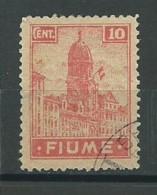 ITALIE-FIUME: Obl., N°YT 35, B/TB - 8. WW I Occupation
