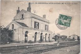 49-CPA-ST GEORGES SUR LOIRE LA GARE - Saint Georges Sur Loire