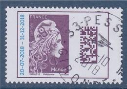 Marianne L'Engagée 2018 Monde Surchargée Oblitéré Type Gommé 20-7-2018 -- 31-12-2018 = - Used Stamps