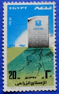 EGYPT 20 M 1977 AGRARIAN REFORM LAW / MAP - USED - Egypt