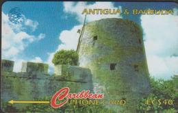 ANTIGUA & BARBUDA 16CATA CARAÏBES  EC$40 TOUR MARTELLO  TIR 10M - Antigua And Barbuda
