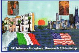 Palermo - Altavilla Milicia 2010 - 110° Anniv. Festeg. Madonna Della Milicia  A Chicago (USA) - - Manifestazioni