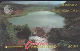 DOMINIQUE 6CDMB CARAÏBES  EC$10  EAUX FRAICHES Du LAC TIR 40M - Dominica