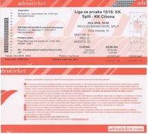 Croatia, Ticket, Basketball, National League Split - Cibona - Match Tickets