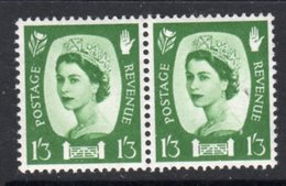 NORTHERN IRELAND GB - 1958 DEFINITIVE 1/3d STAMP IN HORIZONTAL PAIR SG NI5 X 2 FINE MNH ** - Regional Issues