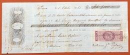 MARCHE PER CAMBIALI 1863/66  L.1,50 SU CAMBIALE  MODENA 1865 - Azioni & Titoli