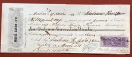 MARCHE PER CAMBIALI 1863/66  CENT.25  SU CAMBIALE  MODENA 1864 - Azioni & Titoli