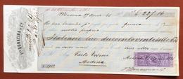 MARCHE PER CAMBIALI 1863/66  CENT.15  SU CAMBIALE  MODENA 1865 - Azioni & Titoli