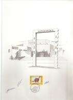 """BELG.2002 3056 Kaart A4 Formaat Met Eerstedagstempel Op Zegel & Handtekening Ontwerper """" Piet Vanhuyse (10j)"""" - FDC"""