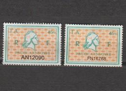 Série Timbres Fiscaux -  2 Timbres Amende Millésime 01 - 04 - Revenue Stamps