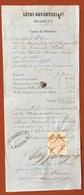 CONTO DI RITORNO DI UNA CAMBIALE  LUIGI GAVARUZZI BOLOGNA  DOCUMENTO DEL 1877 MARCA DA BOLLO E FIRME - Azioni & Titoli