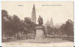 Antwerpen - Anvers - Place Verte Et Statue Rubens - N. 7 G. Hermans - Antwerpen