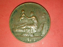 MÉDAILLE BRONZE DIEU NOUS L'A DONNE 29 SEPTEMBRE 1820 Henri D'Artois Henri V Par Gaybard F.  Dia.38 Mm 29.5gr - Royal / Of Nobility