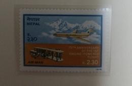 O) 1978 NEPAL. FLYER AND JET 1st POWERED FLIGHT SCT C6 MNH - Nepal