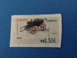 SPAGNA ESPANA FRANCOBOLLO USATO STAMP USED AUTOMATICO FRAMA ATM 0,52 € MUSEO MOTO FAETON EXCLUSIVO 1850 - Servizi