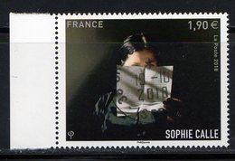 France 2018.Sophie Calle.Cachet Rond Gomme D'origine. - France