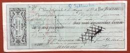MARCHE PER CAMBIALI 1863/66 LIRE 3,50  SU CAMBIALE FRANCESCO DALTABUIT S.FELIU DE GUIXOLS DEL 1864 - Azioni & Titoli