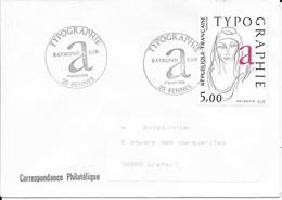 TIMBRE N° 2407 -  TABLEAU TYPOGRAPHIE R. AGID    -  CACHET VOIR DESCRIPTION - 1ER JOUR - 1986 - SEUL SUR LETTRE - Marcophilie (Lettres)