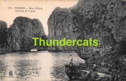 CPA VIETNAM VIET NAM TONKIN  BAIE D'ALONG INTERIEUR DU CIRQUE - Viêt-Nam