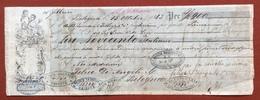MARCHE PER CAMBIALI 1863/66 CENT. 50 SU CAMBIALE BOLOGNA  1863 - Azioni & Titoli