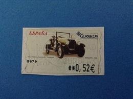 SPAGNA ESPANA FRANCOBOLLO USATO STAMP USED AUTOMATICO FRAMA ATM 0,52 € MUSEO HISTORIA AUTOMOCION BERLIET 1926 - Servizi