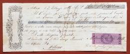MARCHE PER CAMBIALI 1863/66  LIRE 1,50  SU CAMBIALE  MILANO 1866 - Azioni & Titoli