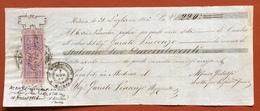 MARCHE PER CAMBIALI 1863/66  CENT.15   SU CAMBIALE  MODENA  1866 - Azioni & Titoli