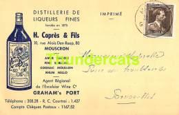 CPA PUB PUBLICITE RECLAME DISTILLERIE DE LIQUEURS FINES MOUSCRON AMER BRETON GRAHAM'S PORT - Mouscron - Moeskroen