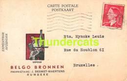 CPA PUB PUBLICITE RECLAME BELGO BRONNEN RUMBEKE DESMET MAERTENS - Roeselare