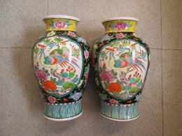 2 Vases Fabrication Chinoise - Non Classés