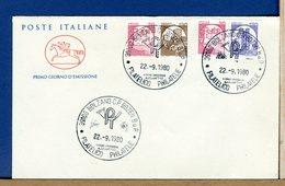 ITALIA - FDC CAVALLINO 1980 -   CASTELLI  MACCHINETTE Lire 30 120 170 - 6. 1946-.. Repubblica