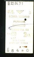 TR18 BIGLIETTO   ROMA TERMINI FORMIA 1971 2° CLASSE - Spoorwegen
