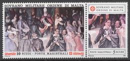 SMOM 1990 Sas# 335-36** HISTORIC FRESCOES - Malte (Ordre De)