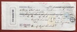 MARCHE DA BOLLO LOMBARDO VENETO AUSTRIA  DU CAMBIALE DEL 1857 - Azioni & Titoli
