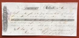MARCHE DA BOLLO  PER CAMBIALI  0,30 SU CAMBIALE  BELFAST  1877 - Azioni & Titoli