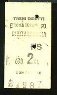 TR21 DIRETTO ROMA TERMINI CIVITAVECCHIA 1951 CON PUB. MARZOTTO  2° CLASSE - Treni