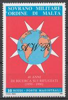 SMOM 1990 Sas# 335-36** 40th ANNIV. OF THE REFUGEE ASSOCIATION - Malte (Ordre De)